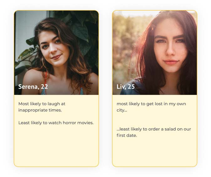 Dating app profile examples
