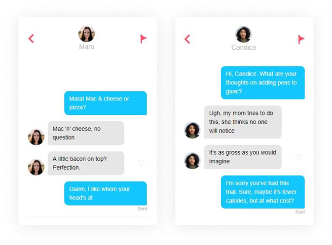 What to say for how to start a conversation on Tinder - name and question