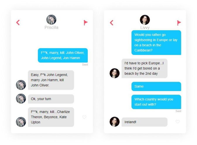 What to say for how to start a conversation on Tinder - get to know you game