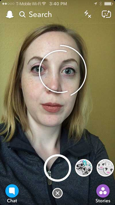 Snap chat face filters on dating profile picture