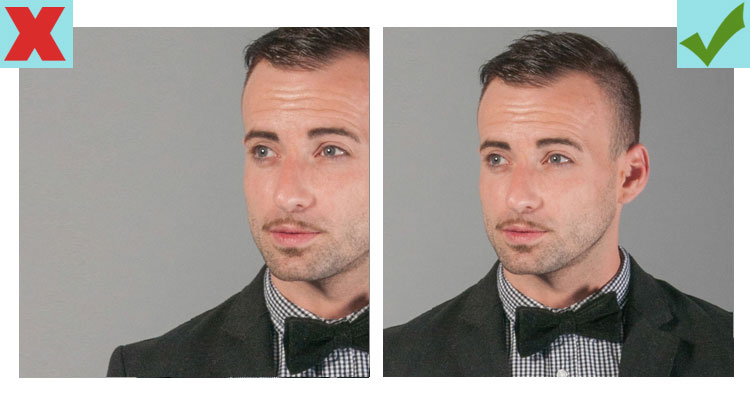 How you crop a photo can make you seem like you're hiding something