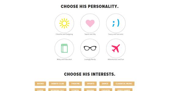 Invisible boyfriend or girlfriend builder for online prank