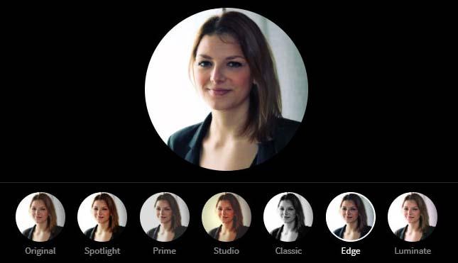 LinkedIn Profile Picture Photo Editor - Edge Filter