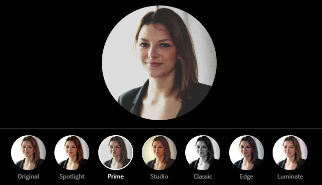 LinkedIn Profile Picture Photo Editor - Prime Filter