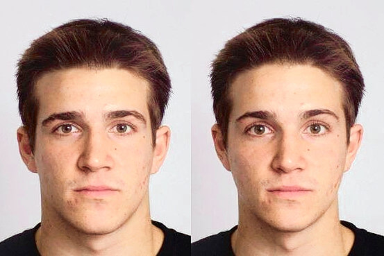 Warped facial features for a trustworthiness experiment
