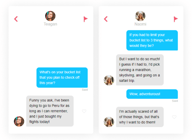 tinder icebreakers bucket list