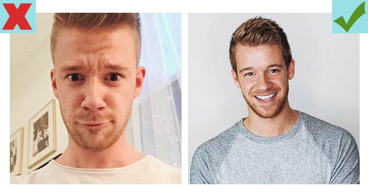 Tinder pics of average guys tend to do better with smiles than non-smiling pictures