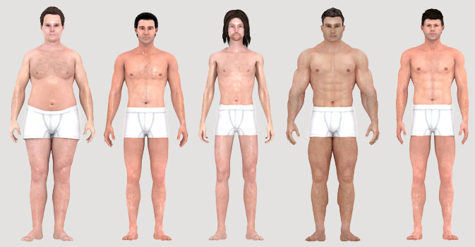 History of attractive face and body ideals for boys and men